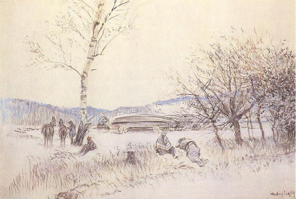 In Serbia (variant) 1914 | Laszio Mednyanszky | Oil Painting