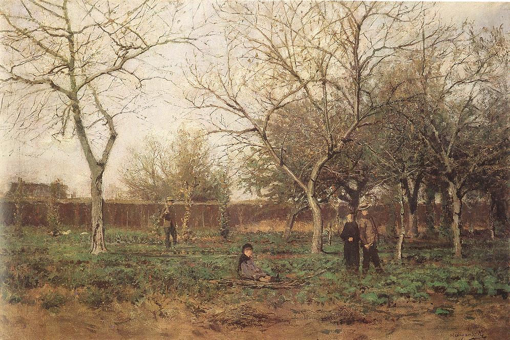 In the Garden | Laszio Mednyanszky | Oil Painting