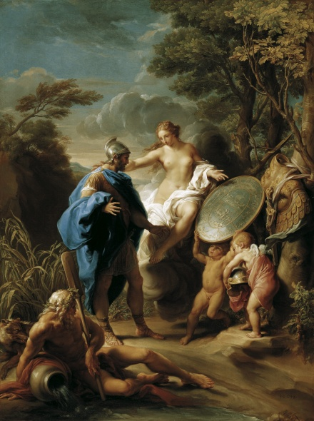 Venus Presenting Aeneas with Armour Forged by Vulcan 1748 | Pompeo Girolamo Batoni | Oil Painting