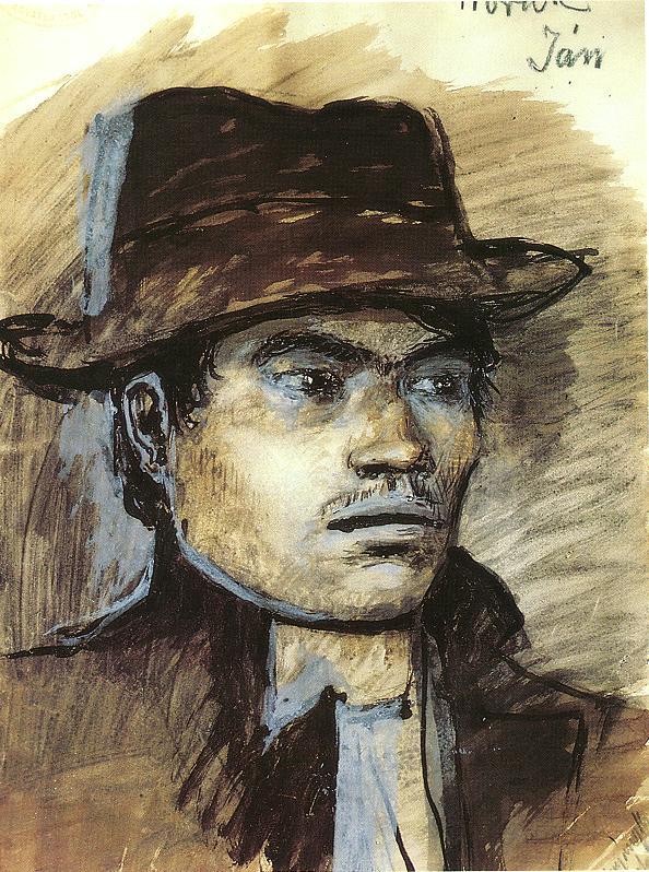 Jan Horak 1914   Laszio Mednyanszky   Oil Painting