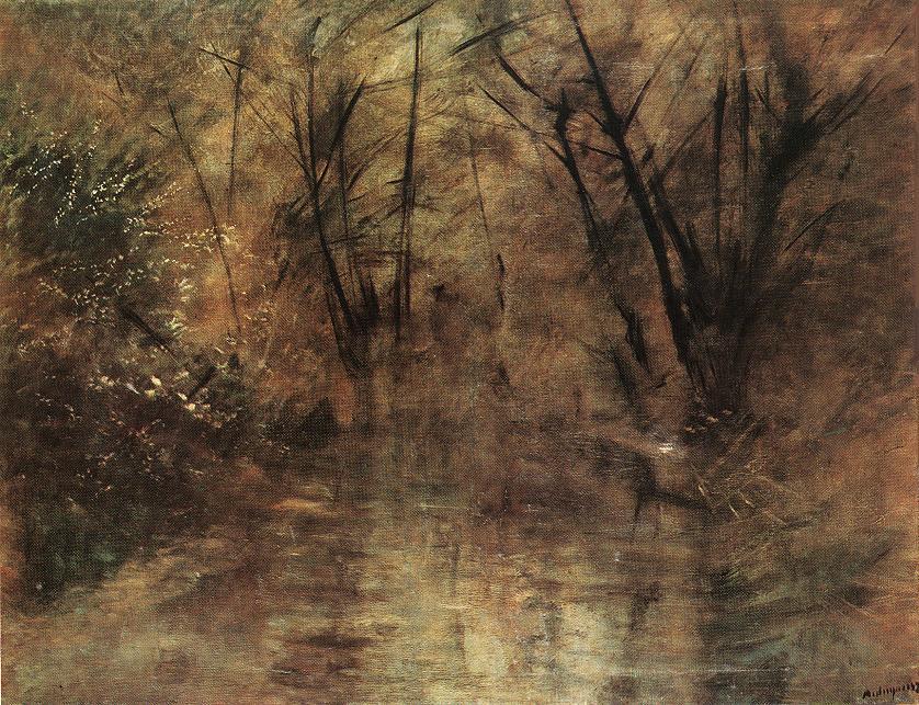 Landscape 1900   Laszio Mednyanszky   Oil Painting