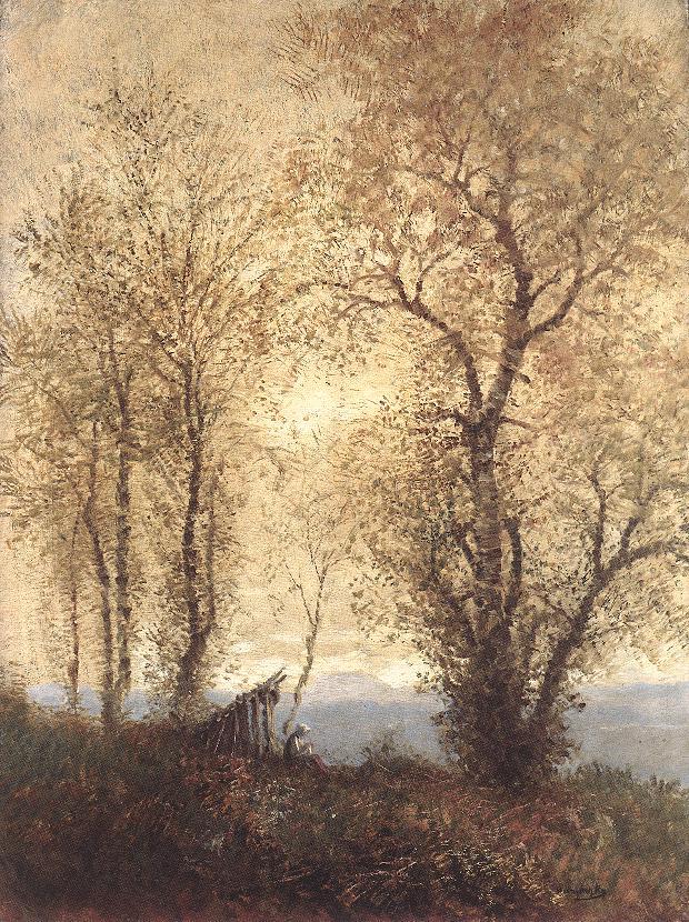 Landscape at Autumn 1890s   Laszio Mednyanszky   Oil Painting
