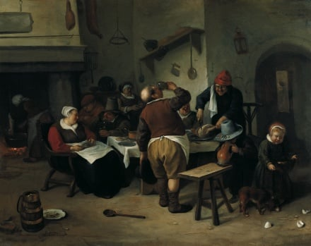 The Fat Kitchen c 1665 1670 | Jan Steen | Oil Painting
