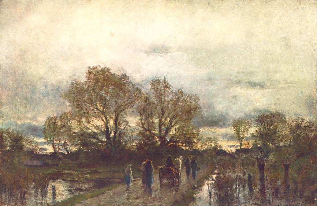 Marshland 1880   Laszio Mednyanszky   Oil Painting