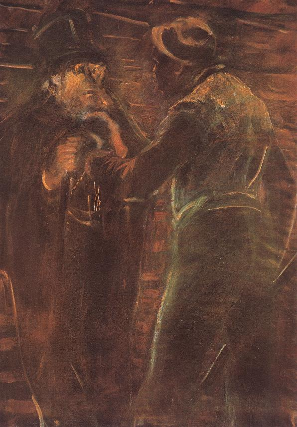 Mugging 1910 13   Laszio Mednyanszky   Oil Painting