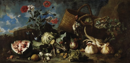 Flowers Fruit and Poultry 1707 | Franz Werner Tamm | Oil Painting