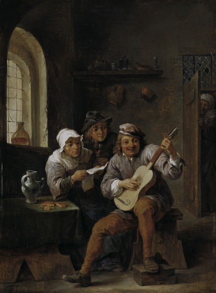 Peasants making music c 1650 | David Teniers | Oil Painting