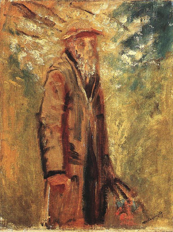 Old Man 1915 18   Laszio Mednyanszky   Oil Painting