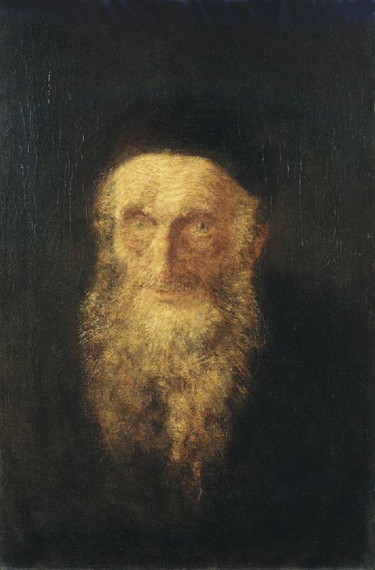 Old Rabbi 1900   Laszio Mednyanszky   Oil Painting