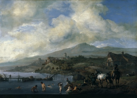 Landscape with Bathers c 1660 | Philips Wouwerman | Oil Painting