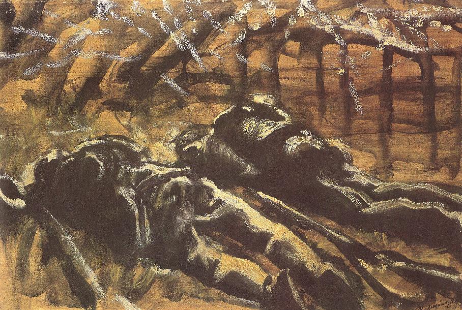Dead Soldiers | Laszio Mednyanszky | Oil Painting