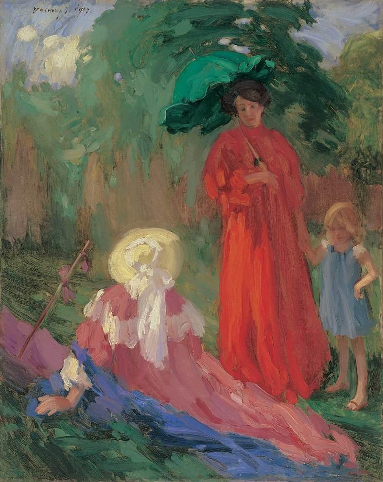 Walking in the Park 1907 | Janos Vaszary | Oil Painting