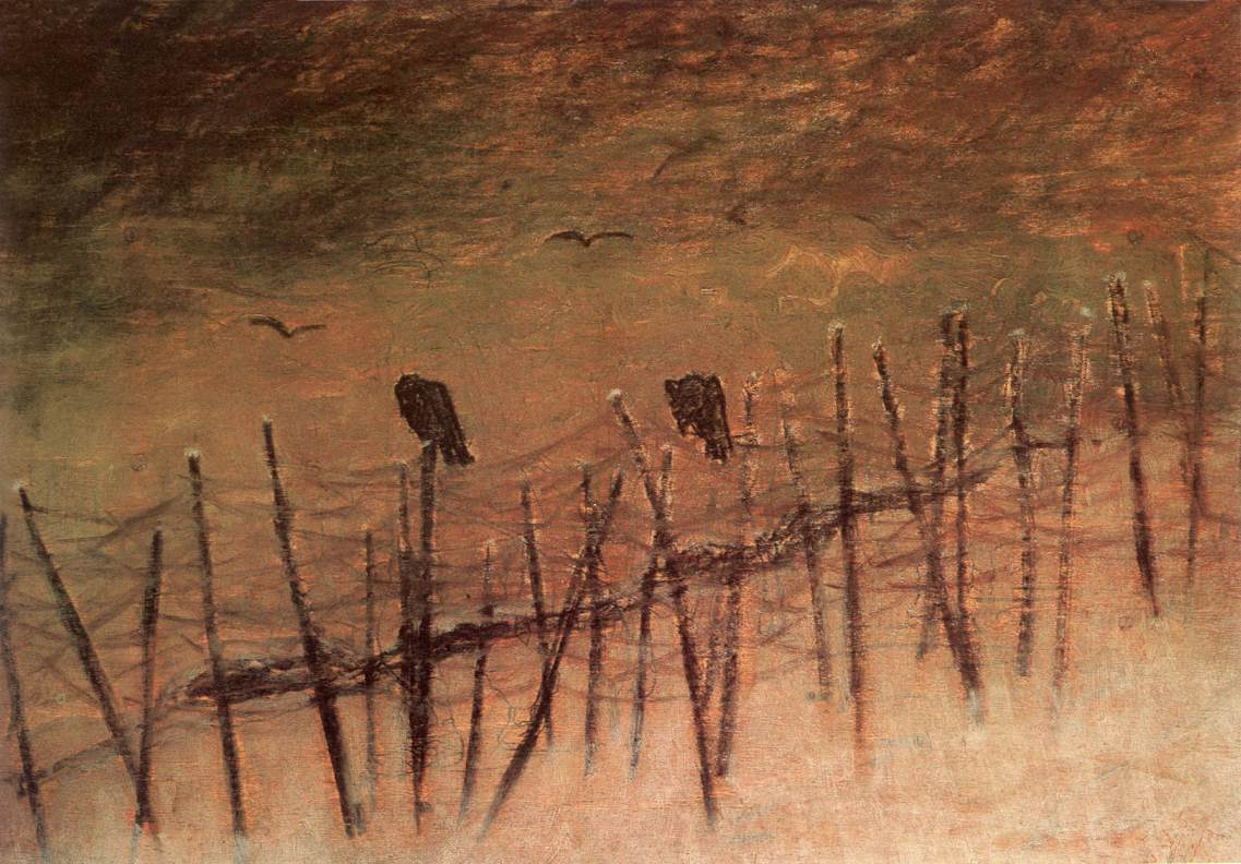 Before a Captured Russian Trench 1915 | Laszio Mednyanszky | Oil Painting