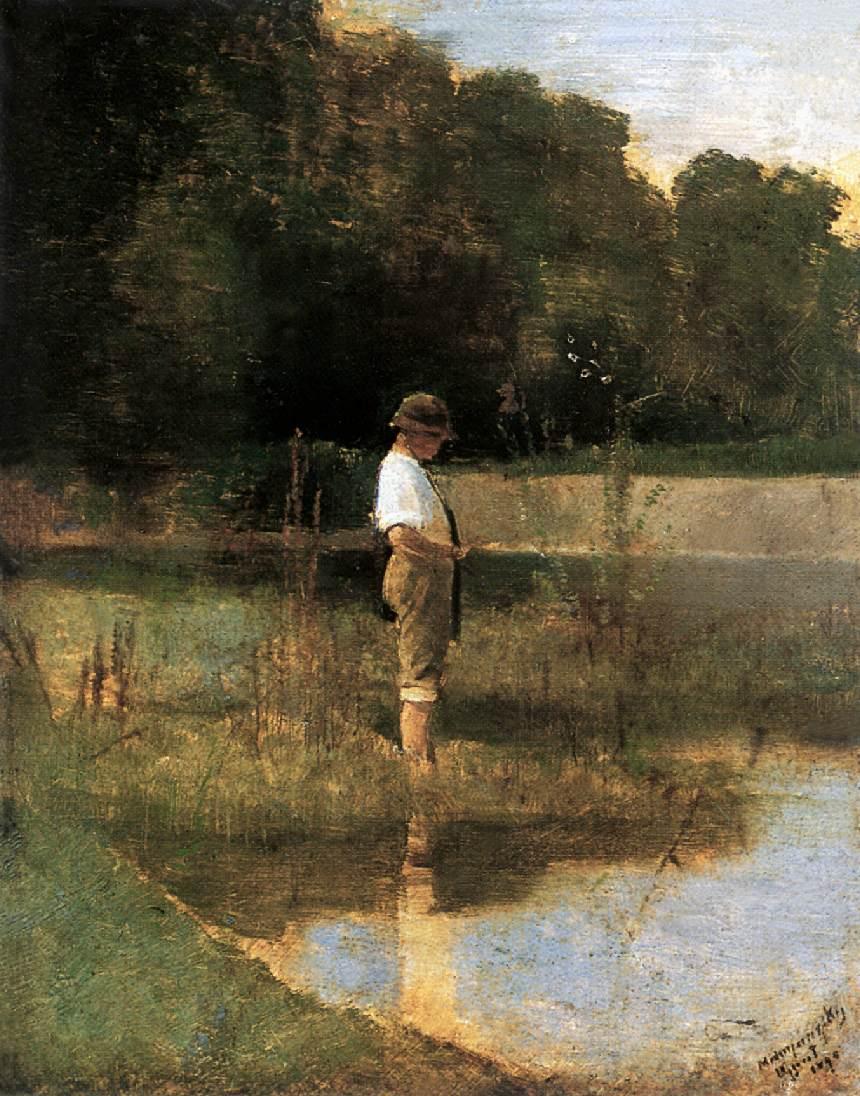 Angler 1890 | Laszio Mednyanszky | Oil Painting