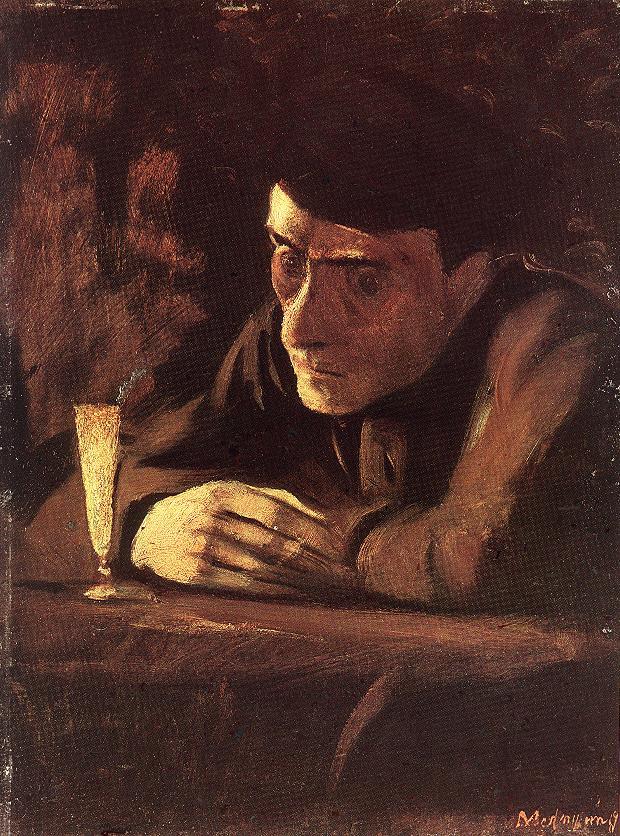 Absinth Drinker 1898 | Laszio Mednyanszky | Oil Painting