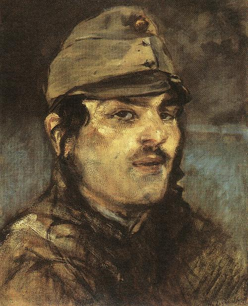 Young Soldier 1910s   Laszio Mednyanszky   Oil Painting