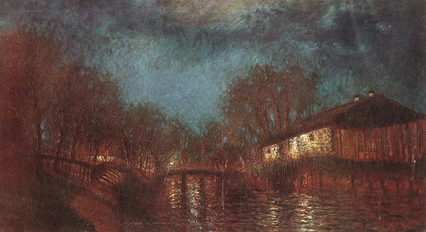 Willows on the River Bank 1905 | Laszio Mednyanszky | Oil Painting