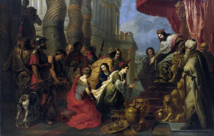 The Meeting of King Solomon and the Queen of Sheba | Erasmus Quellinus | Oil Painting