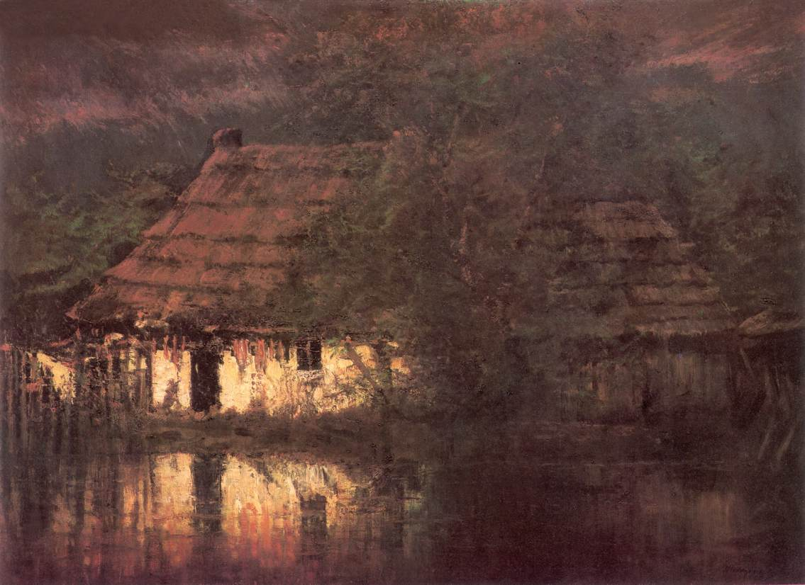 Waterside House | Laszio Mednyanszky | Oil Painting