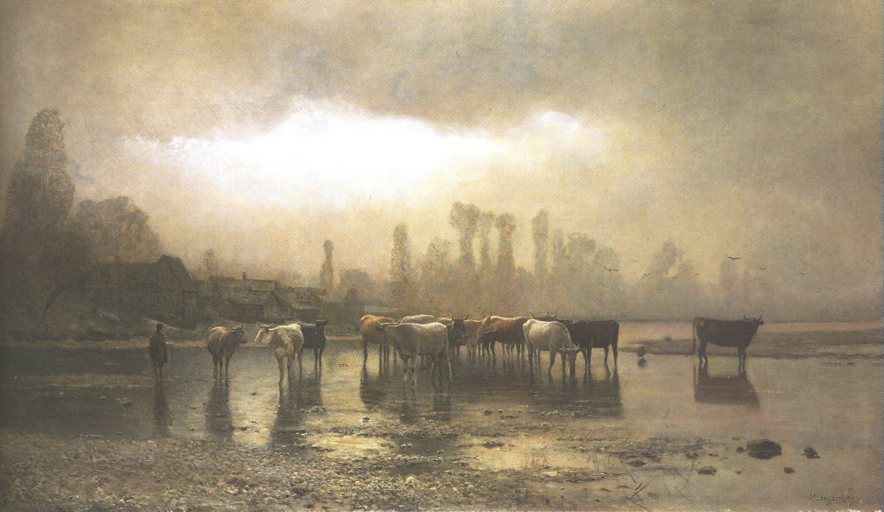 Watering 1880 | Laszio Mednyanszky | Oil Painting