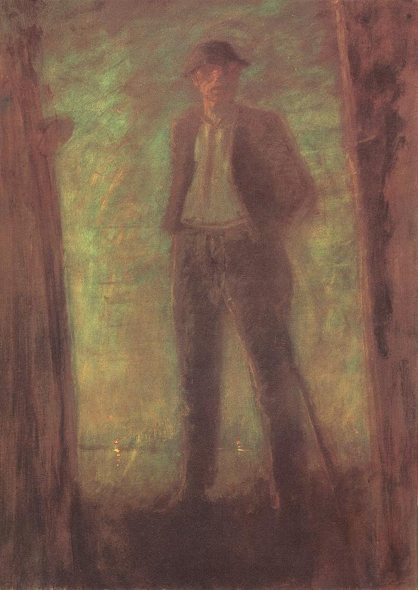 Watching at Night 1910 | Laszio Mednyanszky | Oil Painting