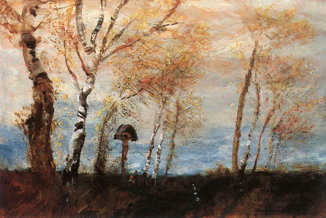 Under the Cross 1892 | Laszio Mednyanszky | Oil Painting