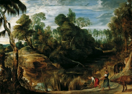 Landscape with Milkmaids and Cows 1616 | Peter Paul Rubens | Oil Painting