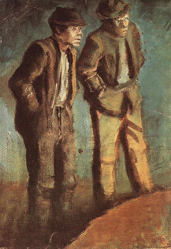 Two Tramps (Prying) 1910 | Laszio Mednyanszky | Oil Painting