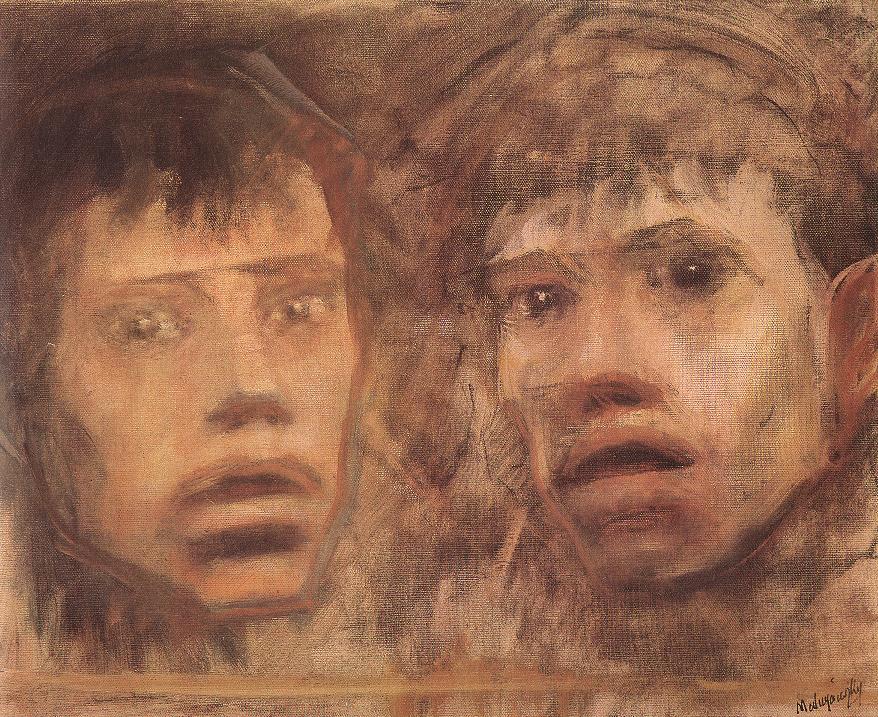 Two Heads | Laszio Mednyanszky | Oil Painting