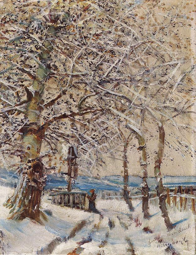 Trees with Hoar frost 1892 | Laszio Mednyanszky | Oil Painting