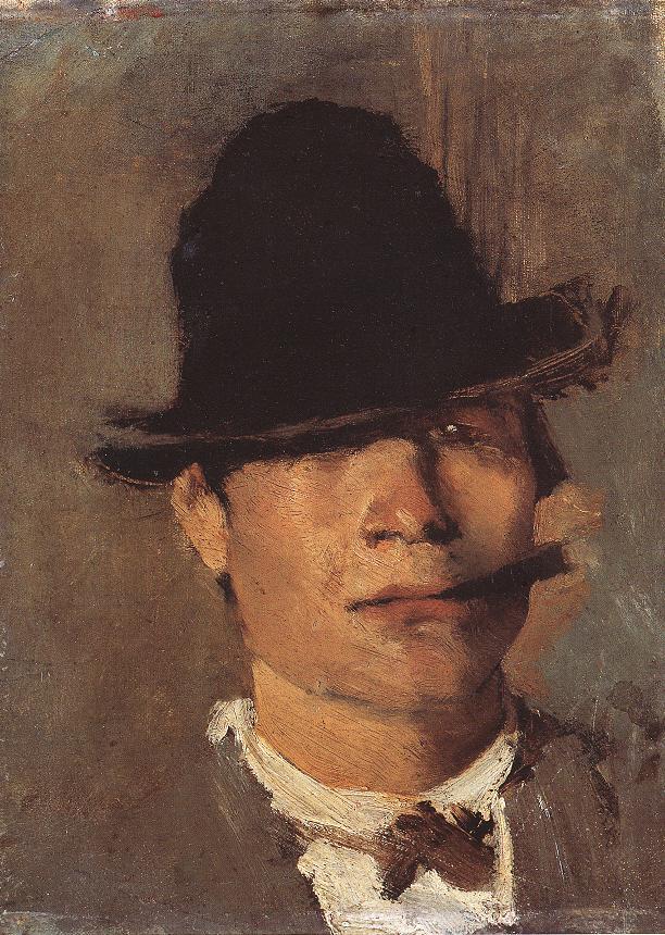 Tramp with Cigar 1900 | Laszio Mednyanszky | Oil Painting