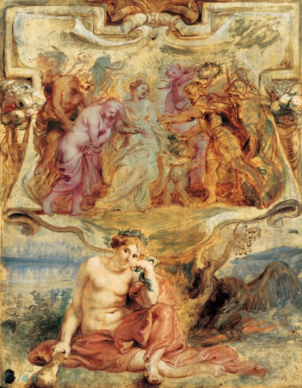 Henry IV seizes the Opportunity to conclude Piece 1628 | Peter Paul Rubens | Oil Painting