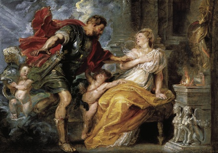 Oil sketch of Mars and Rhea Silvia c 1616 1617 | Peter Paul Rubens | Oil Painting