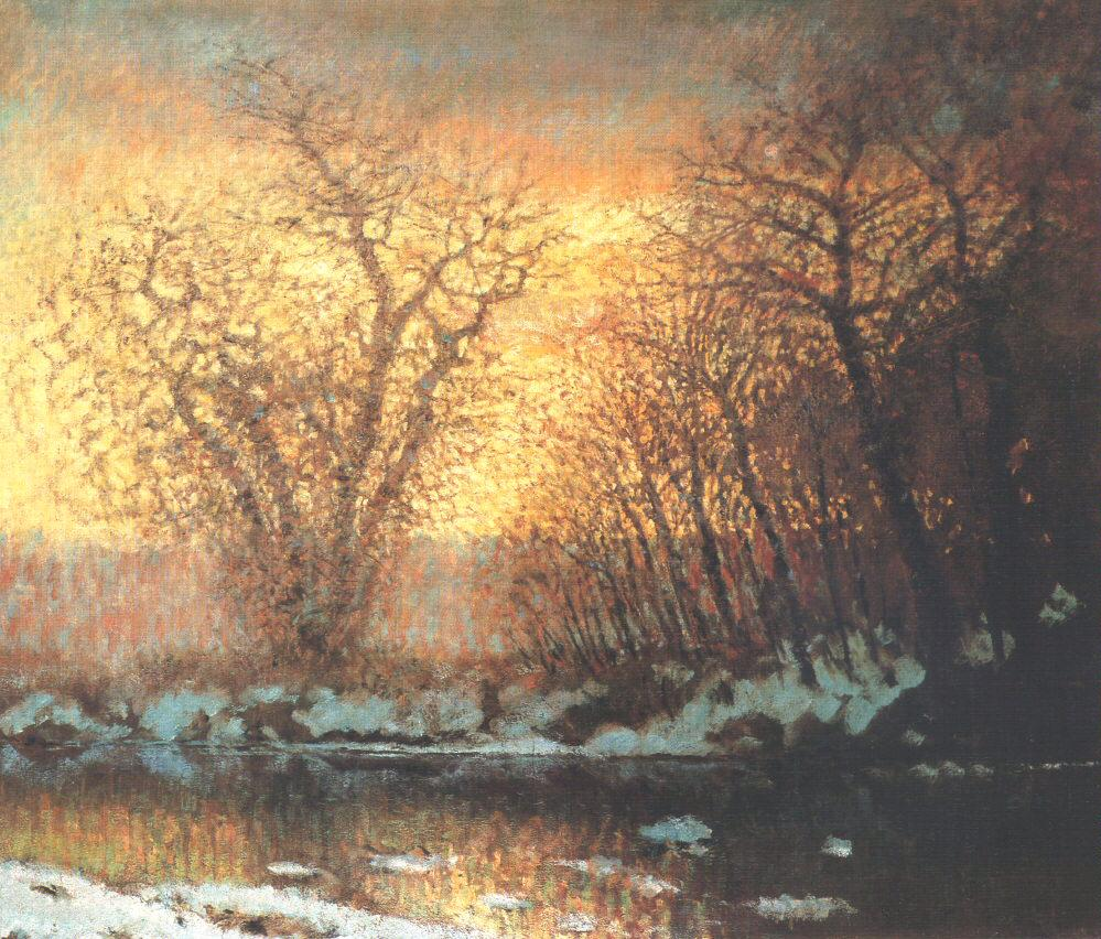Thawing of Snow 1896 99 | Laszio Mednyanszky | Oil Painting