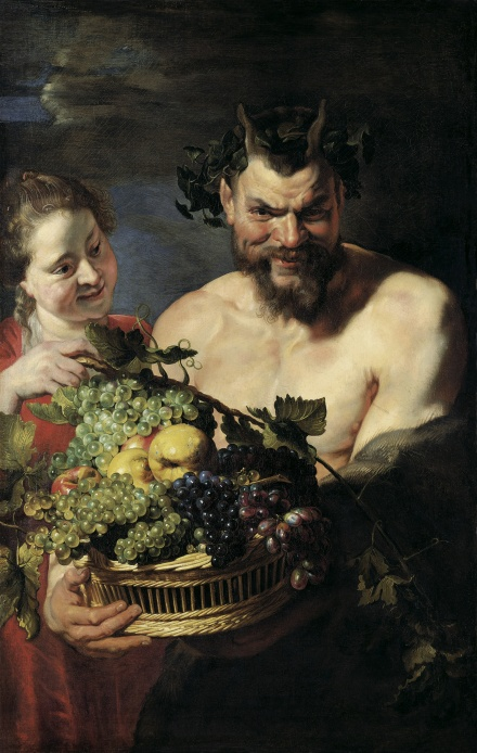 Satyr and Maid with Fruit Basket 1615 | Peter Paul Rubens | Oil Painting