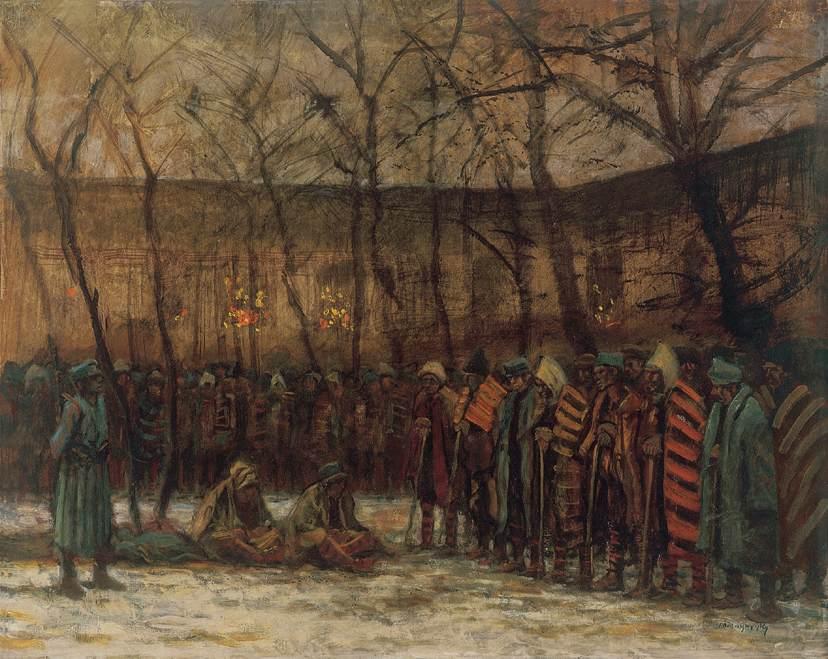 Soldiers' Christmas 1914 18 | Laszio Mednyanszky | Oil Painting