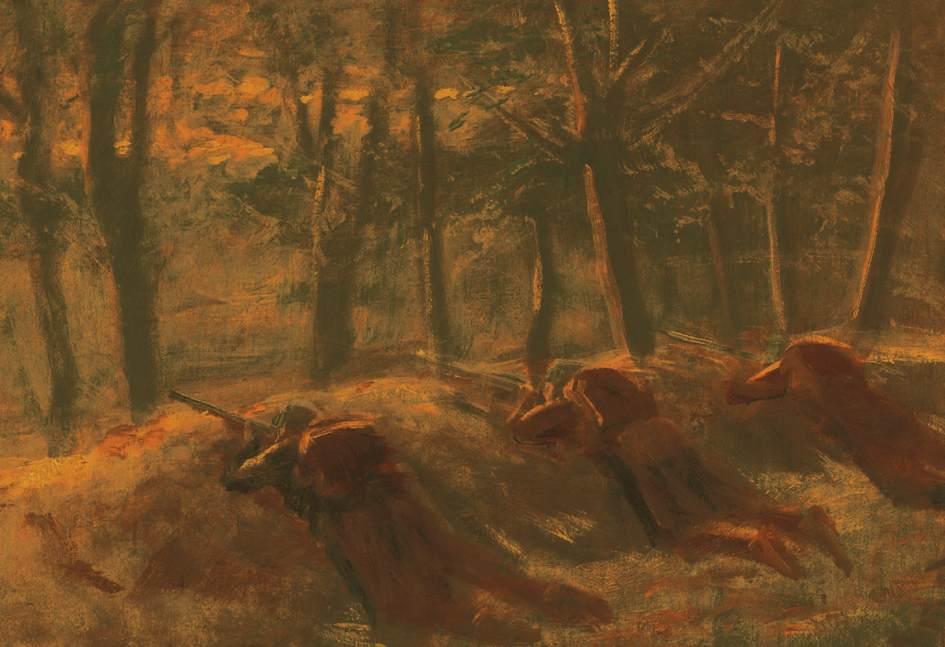 Soldiers | Laszio Mednyanszky | Oil Painting
