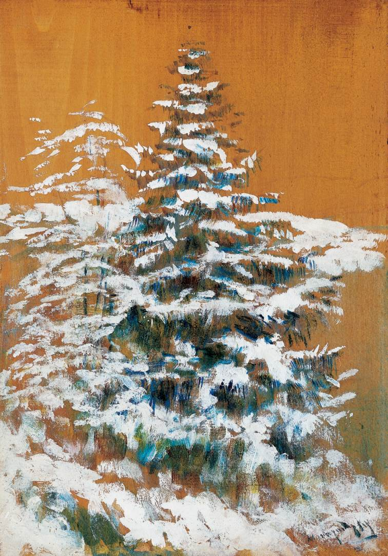 Snowy Pine | Laszio Mednyanszky | Oil Painting