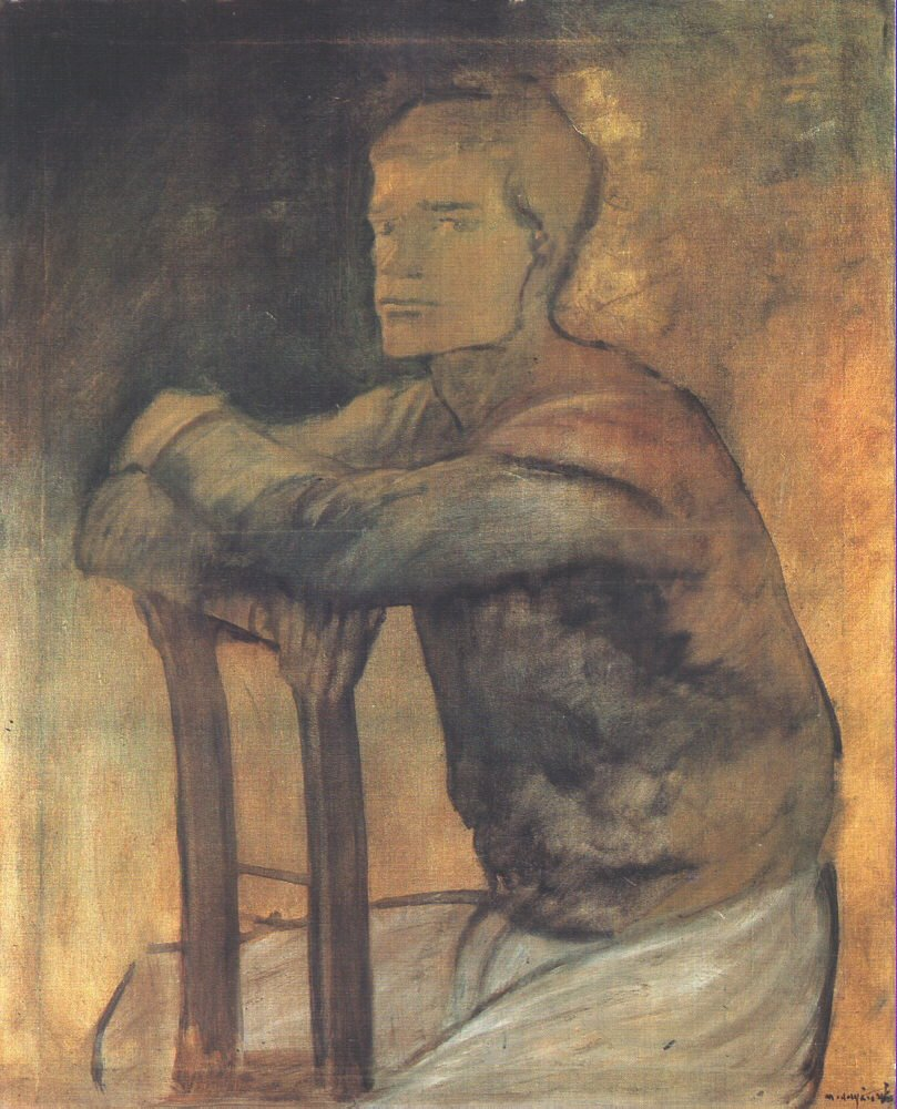 Sitting Tramp 1914 17 | Laszio Mednyanszky | Oil Painting