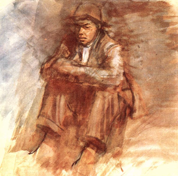 Sitting Tramp 1906 10 | Laszio Mednyanszky | Oil Painting