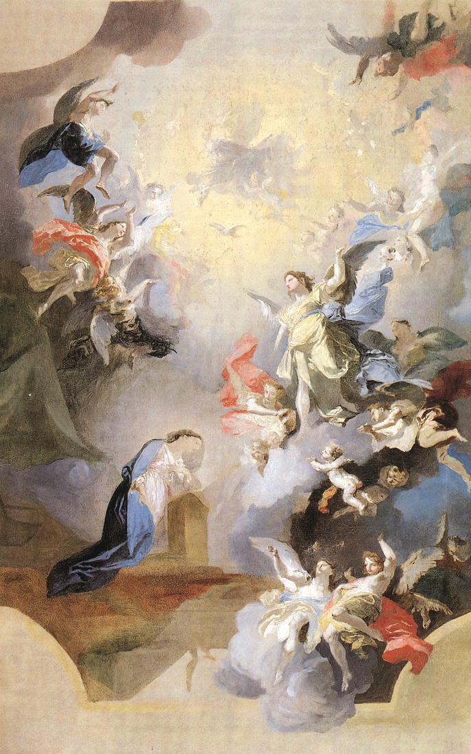 Annunciation (study) 1794   Anton Franz Maulbertsch   Oil Painting