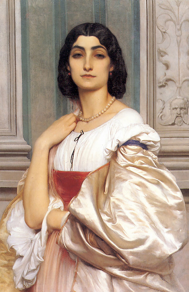 A Roman Lady La Nanna 1858 | Lord Frederick Leighton | Oil Painting