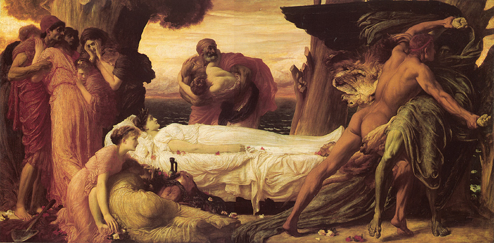 Hercules Wrestling with Death | Lord Frederick Leighton | Oil Painting