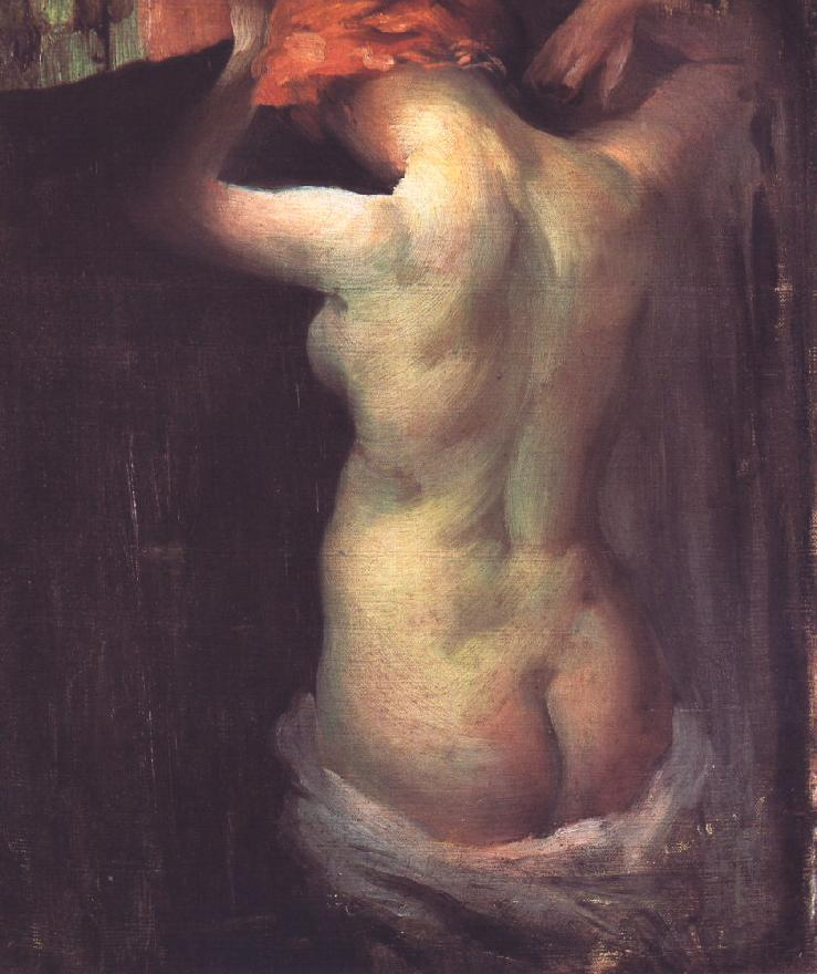 Standing Nude c 1900 | Janos Vaszary | Oil Painting