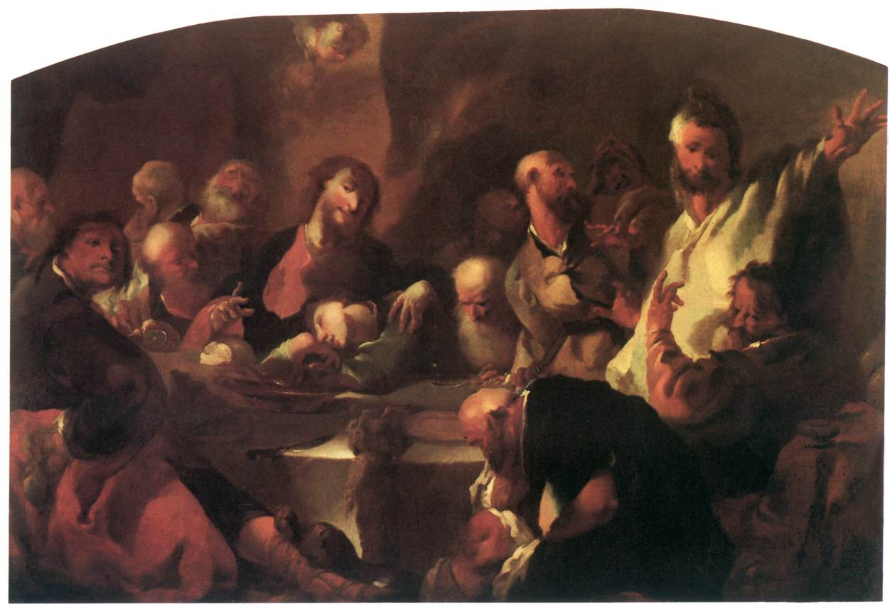 The Last Supper 1760   Anton Franz Maulbertsch   Oil Painting