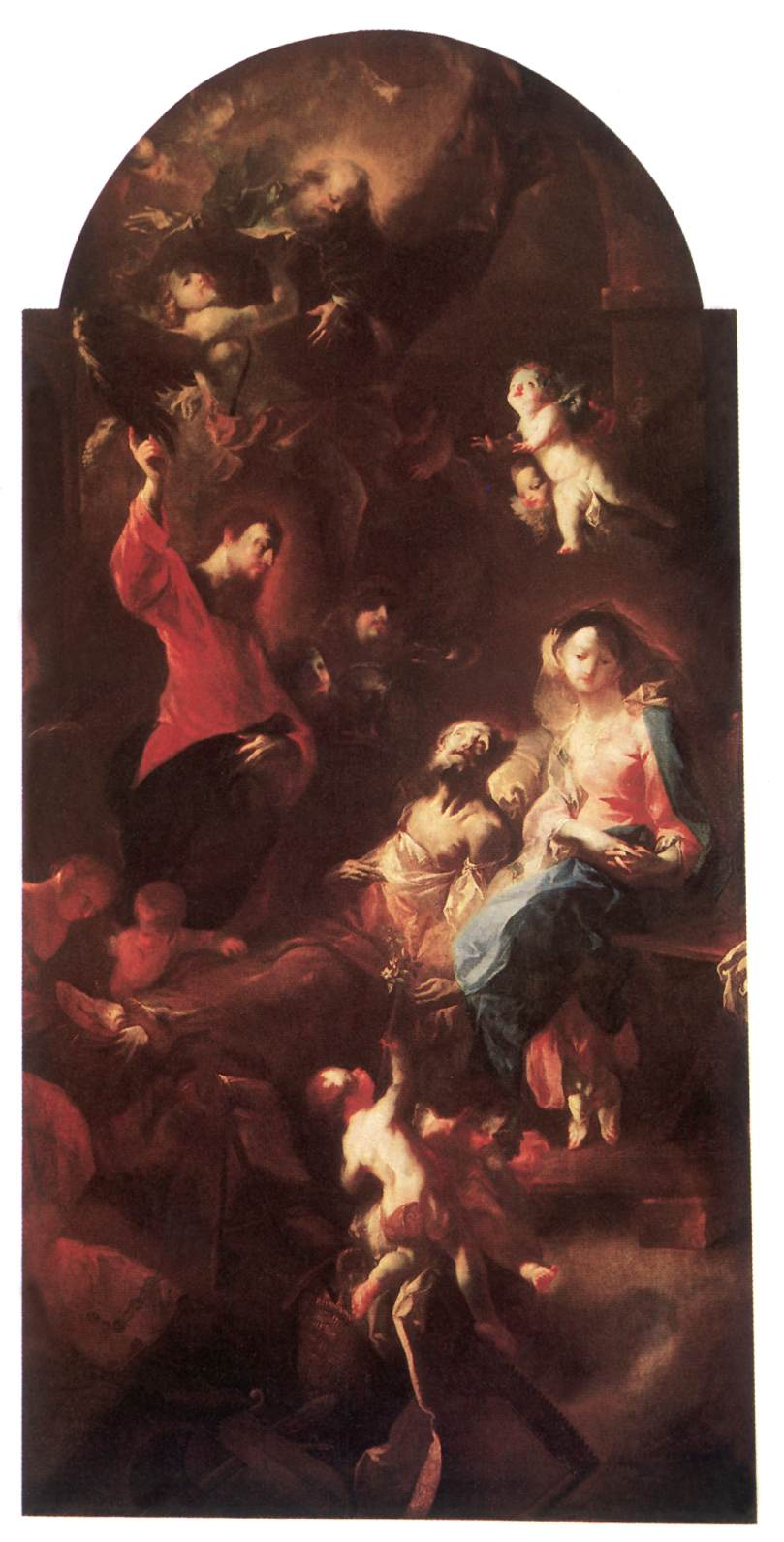 The Death of Saint Joseph 1767   Anton Franz Maulbertsch   Oil Painting