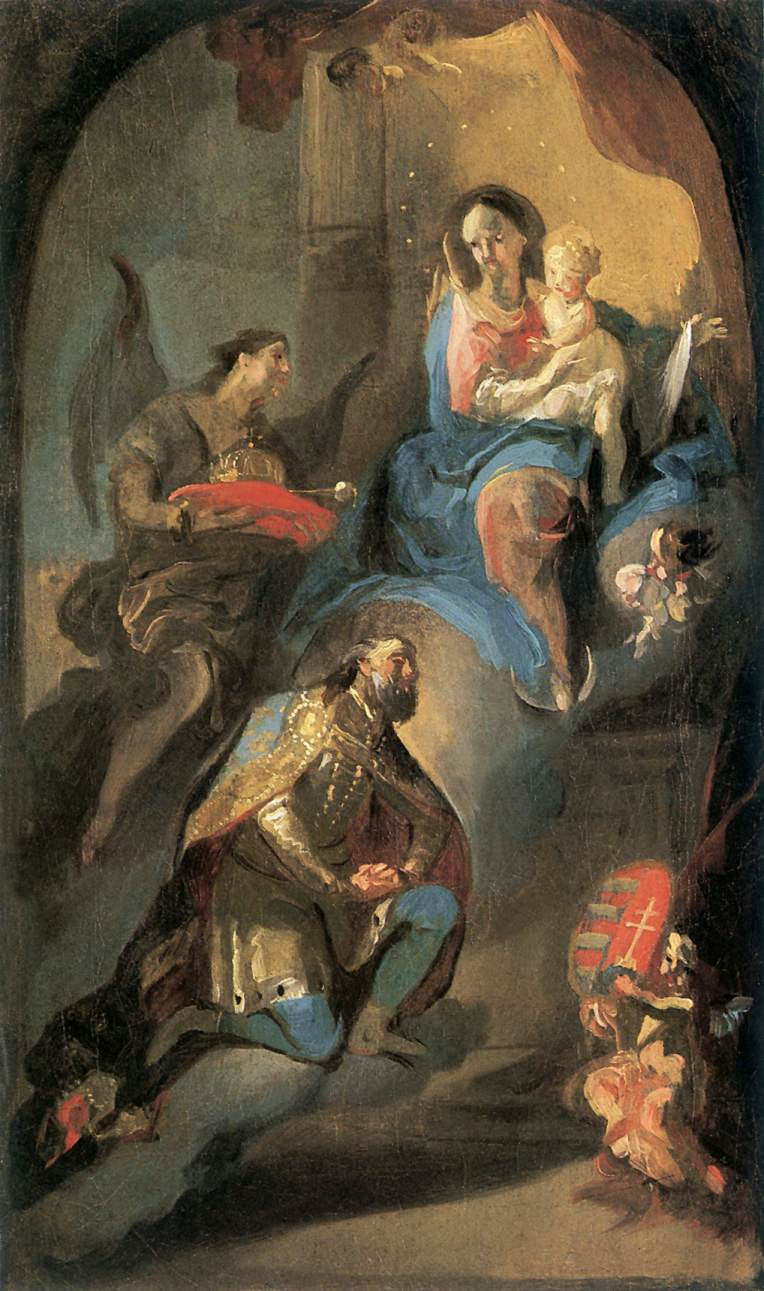 St Stephen Offering his Crown to Virgin Mary 1772 74 | Anton Franz Maulbertsch | Oil Painting