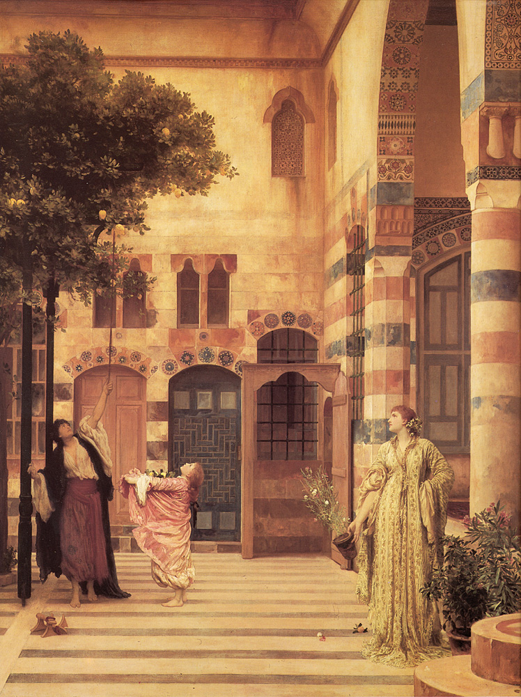 Old Damascus Jews Quarter | Lord Frederick Leighton | Oil Painting