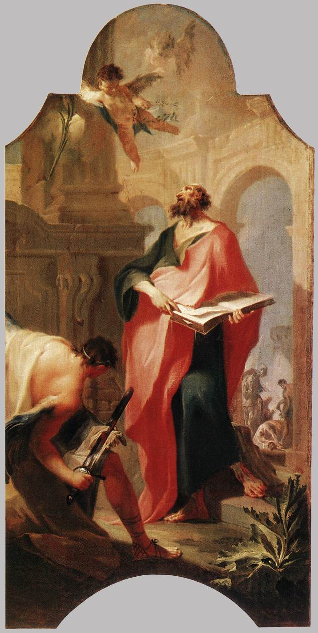 St Paul 1759   Anton Franz Maulbertsch   Oil Painting