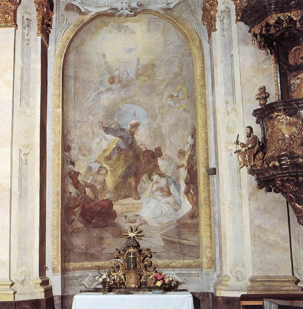 Saint Peter Preaching 1758   Anton Franz Maulbertsch   Oil Painting